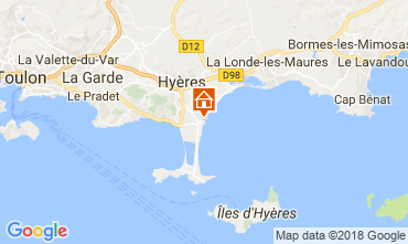 Map Hyères Apartment 113469