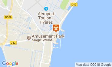 Map Hyères Apartment 113469