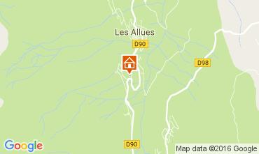Map Méribel Chalet 106813