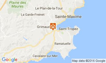 Map Saint Tropez Villa 107223