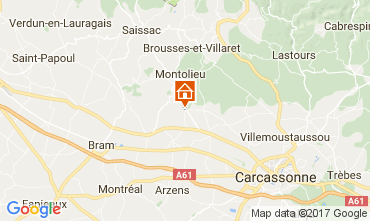 Map Carcassonne Vacation rental 111060