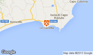 Map Le Castella Apartment 24518