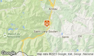 Map Saint Lary Soulan Vacation rental 72319