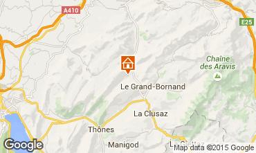 Map La Clusaz Chalet 72056