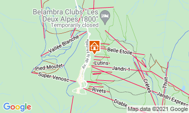 Map Les 2 Alpes Apartment 1219