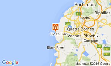 Map Flic-en-Flac Apartment 36851