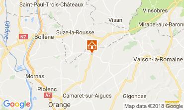 Map Sainte-Cécile-les-Vignes Vacation rental 113447