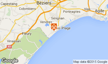 Map Valras-Plage House 102219