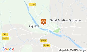 Map Saint Martin d'Ardèche Apartment 118568