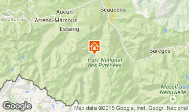 Map Cauterets One-room apartment 4072