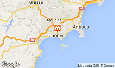 Map Cannes One-room apartment 34288