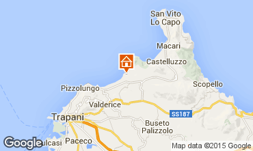 Map San Vito lo Capo Apartment 87673