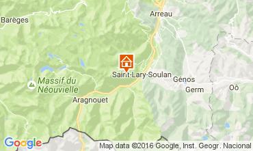 Map Saint Lary Soulan Apartment 59344