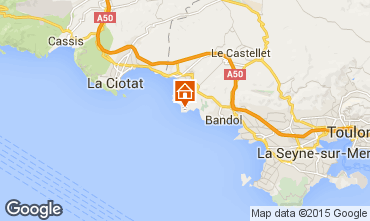 Map Bandol Villa 8651
