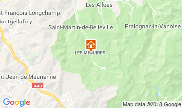 Map Les Menuires One-room apartment 116682