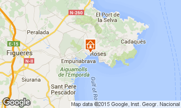 Map Rosas Apartment 91580