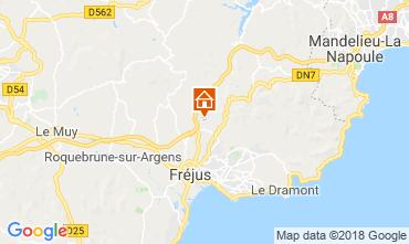 Map Fréjus Villa 109566