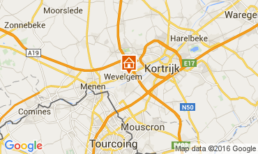 Map Kortrijk Vacation rental 80282