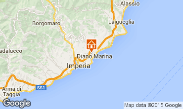 Map Diano Marina Apartment 94203