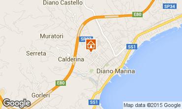 Map Diano Marina Apartment 94203