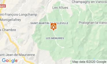 Map Les Menuires Chalet 26775