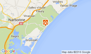 Map Narbonne plage Apartment 104852