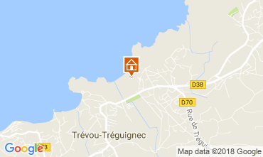 Map Perros-Guirec Apartment 7414