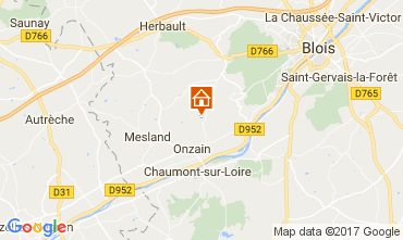 Map Onzain Mobile home 112565