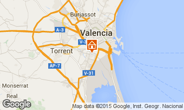 Map Valencia Apartment 8181