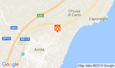 Map Avola Apartment 82131