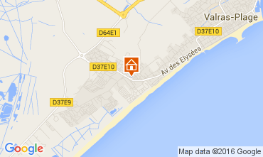 Map Valras-Plage House 103952