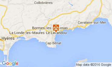 Map Le Lavandou One-room apartment 105610