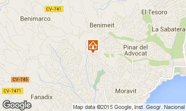 Map Moraira Villa 87365