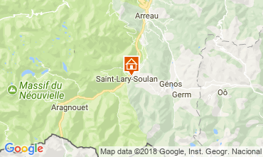 Map Saint Lary Soulan Vacation rental 112160