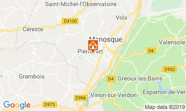 Map Manosque Villa 119002