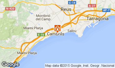 Map Cambrils Apartment 69014