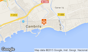 Map Cambrils Apartment 69014