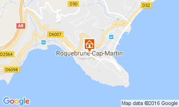 Map Roquebrune Cap Martin One-room apartment 94016