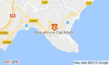 Map Roquebrune Cap Martin One-room apartment 94016