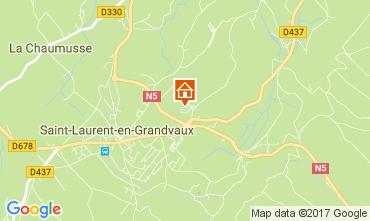 Map Les Rousses Apartment 66948