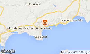 Map Le Lavandou Apartment 8594