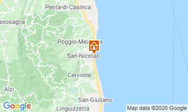 Map Moriani Plage Apartment 75346