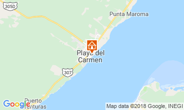 Map Playa del Carmen One-room apartment 116454