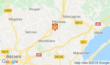 Map Pézenas Villa 116774