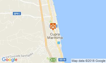 Map Cupra Marittima Apartment 90461