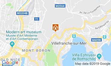 Map Villefranche sur Mer Apartment 119303
