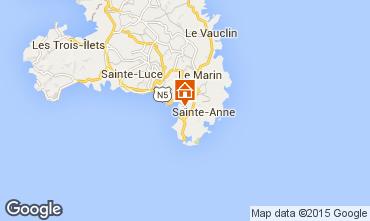 Map Sainte Anne (Martinique) One-room apartment 84011