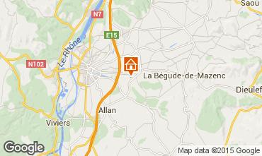 Map Montélimar House 92324