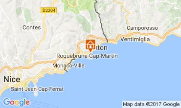 Map Roquebrune Cap Martin One-room apartment 112751