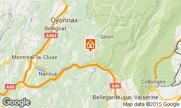 Map La Plagne Apartment 74065